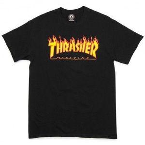 thrasher flame t shirt